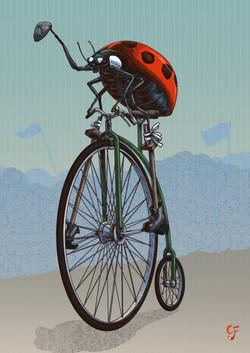 Ladybird Pennyfarthing