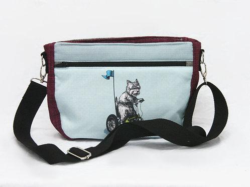 West Highland Terrier Trike Crossbody Bag