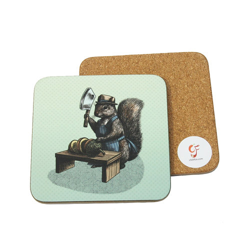 Squirrel Butcher Coaster