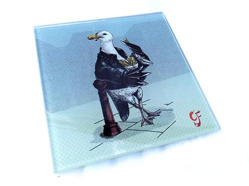 Bad Boy Seagull Glass Coaster