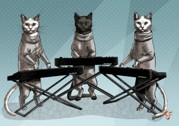 Cat Keyboard Band