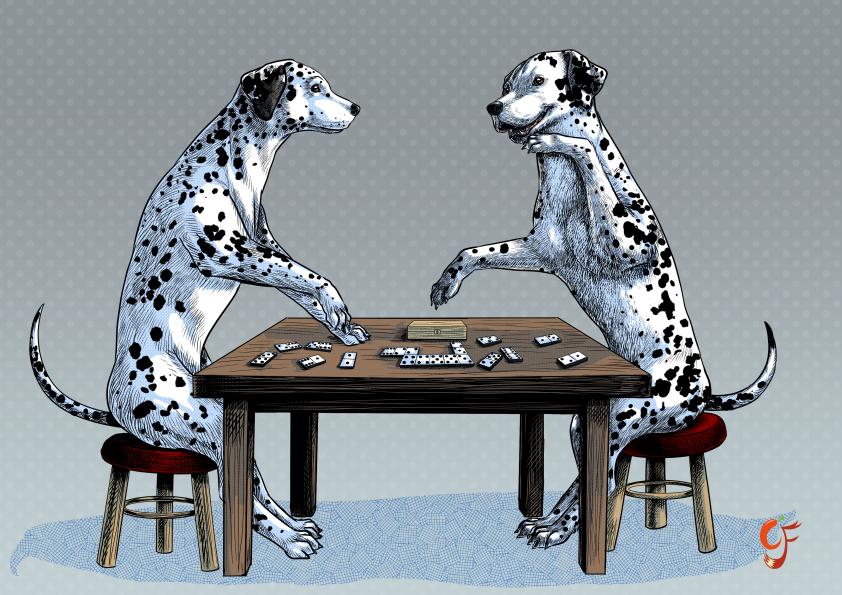 Dalmatian Domino