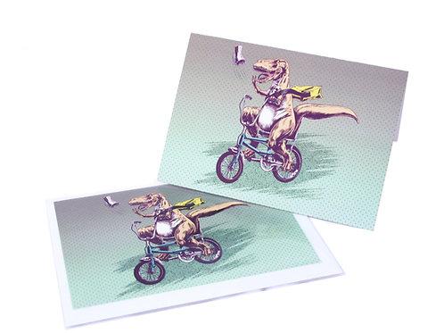 T Rex Paperboy Card