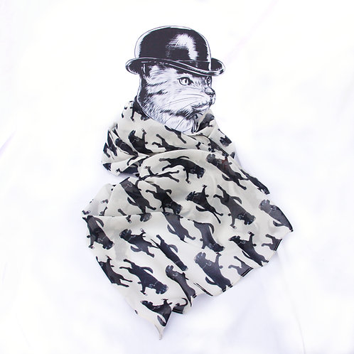 Anyone for Port (Black Labrador) Scarf