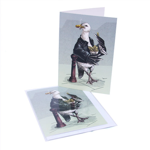 Bad Boy Seagull Card
