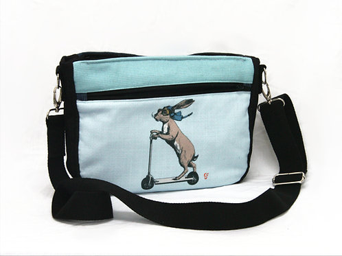 Scootering Hare Crossbody Bag