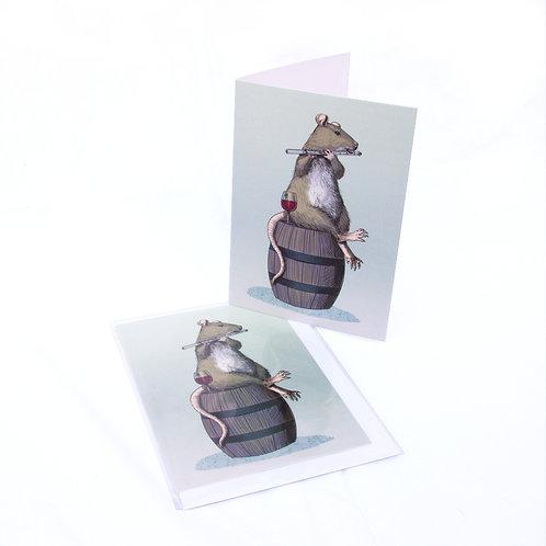 Ratty Flautist Card