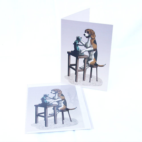 Beagle Scientist Card