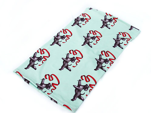 Rhythm Gymnastic Schnauzer Neckwarmer (light green)
