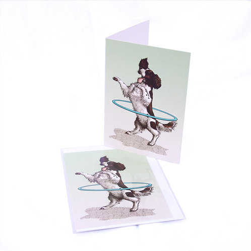 Spaniel Hula Card