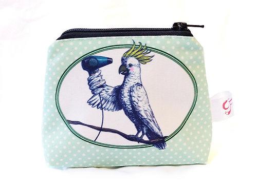 Cockatoo Hairdryer Make Up bag