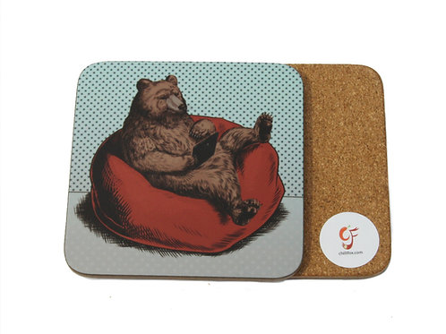 Bear with Tablet Coaster