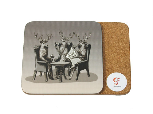 Stag Party Coaster