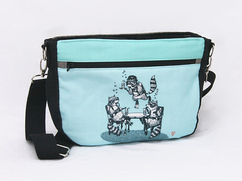 Raccoon Underwater Gin Party Crossbody Bag