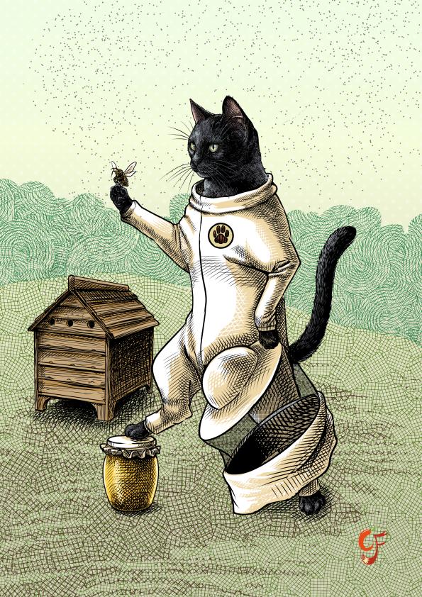 Cat Beekeeper