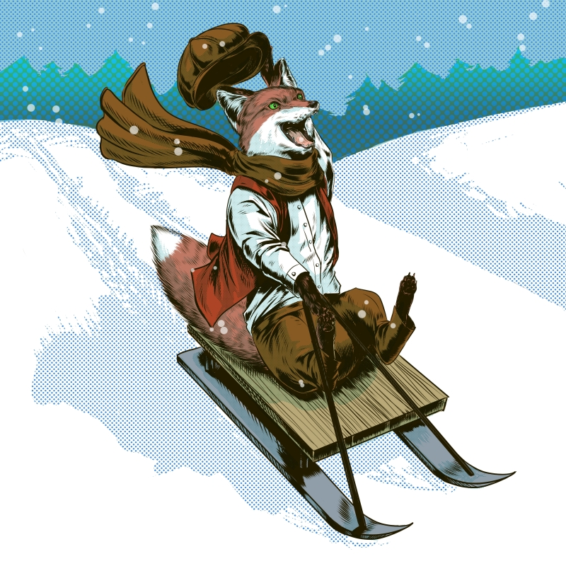 Urchin Fox Sledge