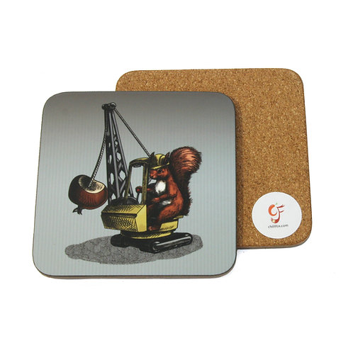 Conker Bonker Squirrel Coaster