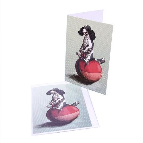 Cocker on a Hopper Card