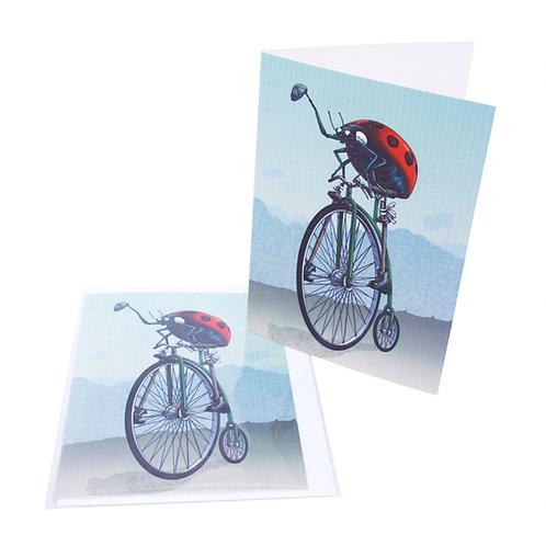 Ladybird Pennyfarthing Card