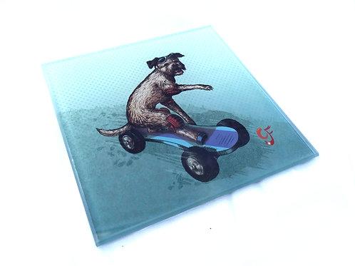 Boarder ( Border ) Terrier Glass Coaster
