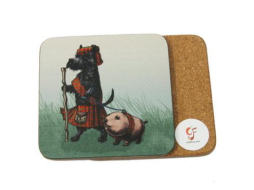 Scottie and Haggis Coaster