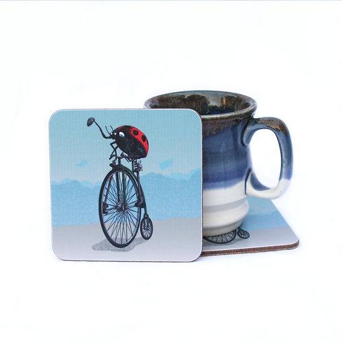 Ladybird Pennyfarthing Coaster