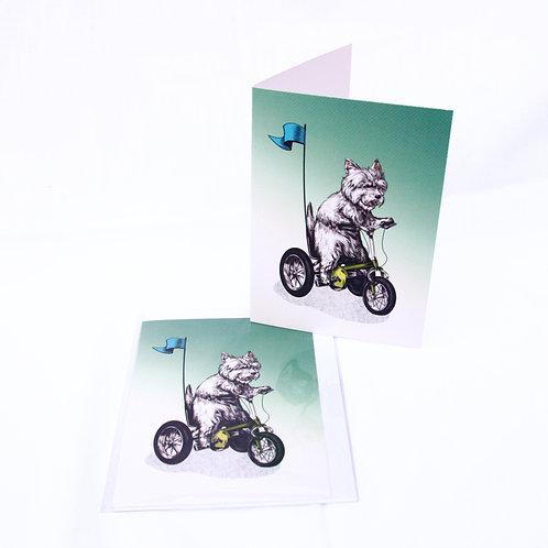 Westie Trike Card