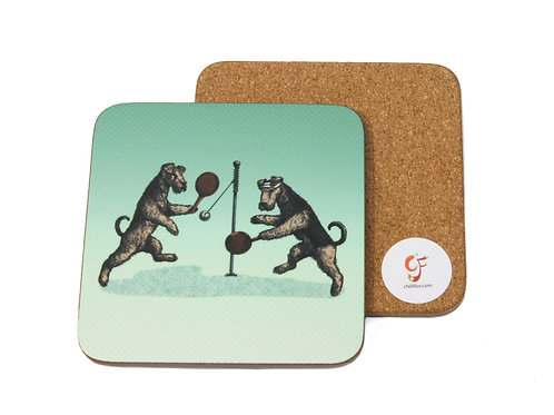 Airedale Swingball Coaster