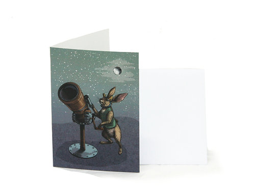 Hare Stargazer Greetings Card