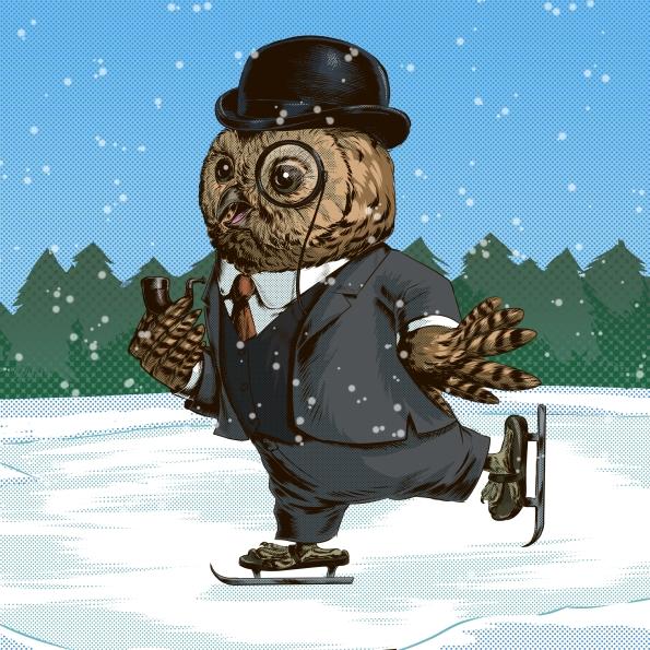 Victorian Skater Owl