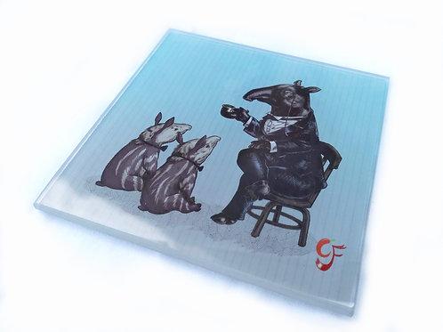 Tall Tales Tapir Glass Coaster