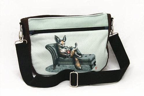 Fennec Fox Chaise Longue Crossbody Bag