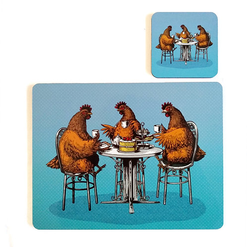 Hen Party Placemat and Coaster set