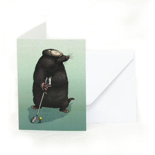 Mole in One Greetings Card