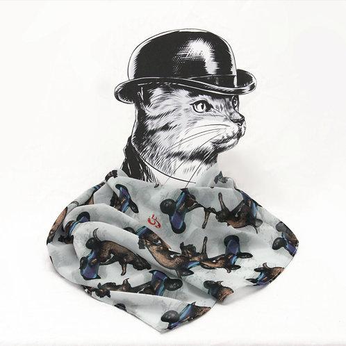 Boarder Terrier Georgette Scarf