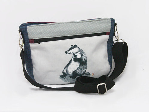 Badger Wine Crossbody Bag