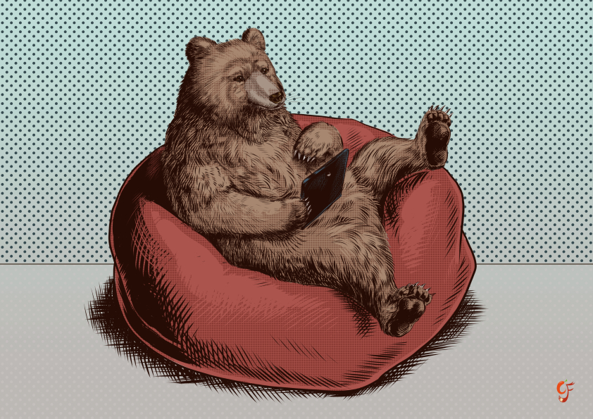Bear with tablet