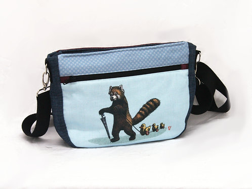Red Panda with ducks in a row Crossbody Bag