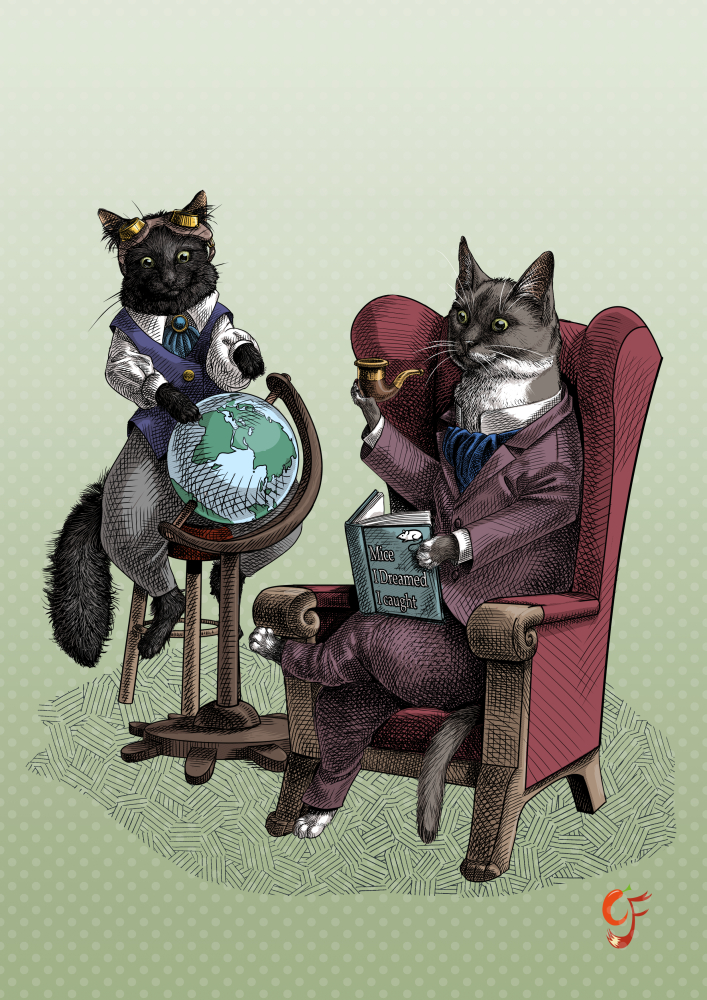Walt and Luna - Cat Intelligensia