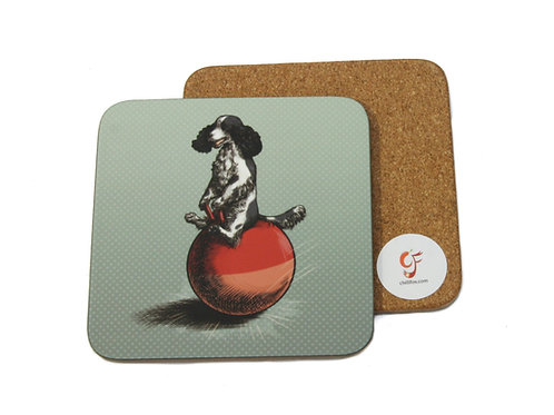 Cocker on a Hopper Coaster
