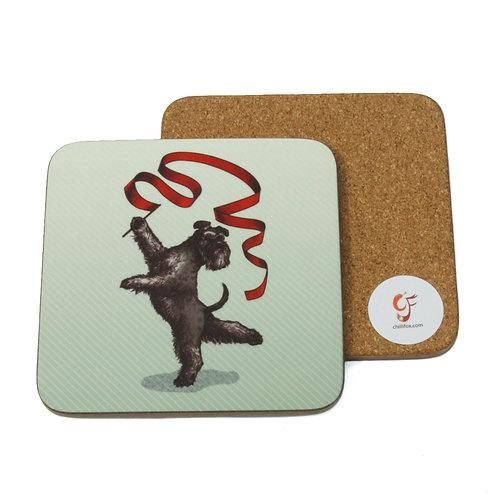 Rhythm Gymnastic Schnauzer Coaster