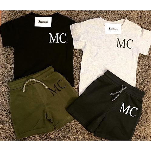 Personalised Initial Shorts & Tees
