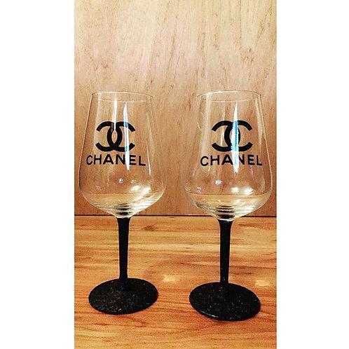 Chanel Wine Glass Set