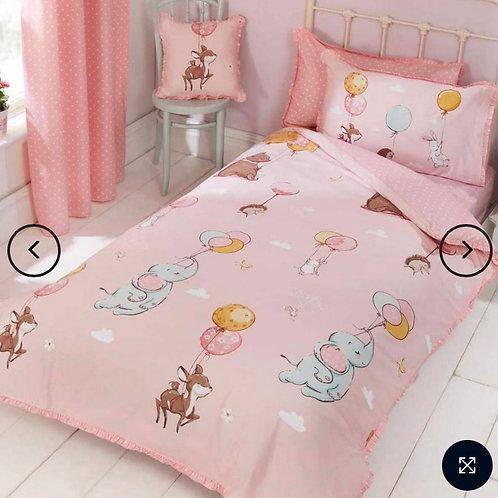 Float Away Frilly Pink Kids single Duvet Cover Set