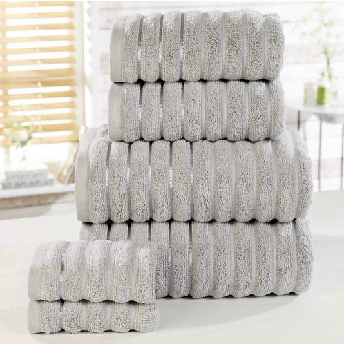 Ribbed 6 Piece Towel Bale Set