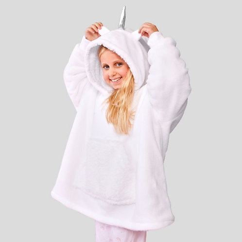 Kid Unicorn Hoodie Blanket
