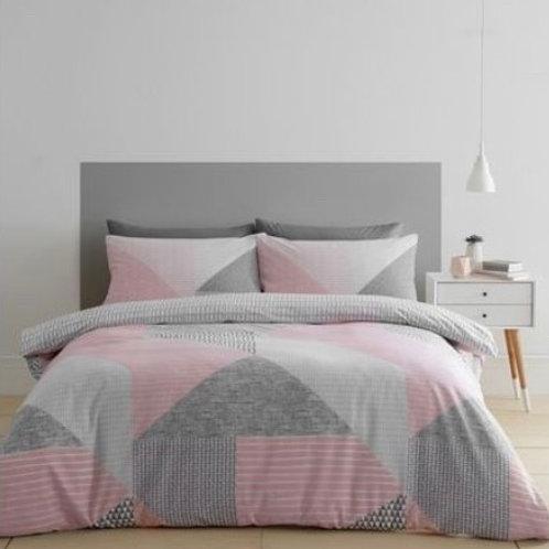 Geo Duvet Cover Set - Pink