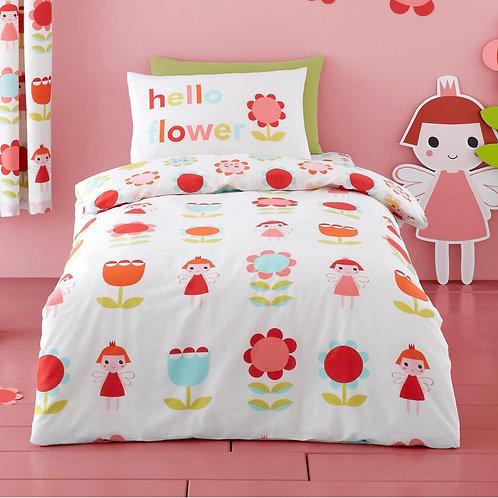 Fairy Garden 100% Cotton Kids Multicolour Duvet Cover Set