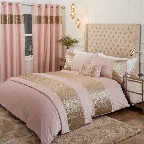 Capri Bedding Set - Blush/Gold