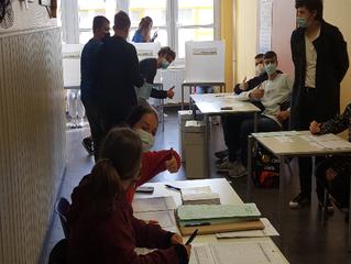 Endlich durften auch mal die Schüler entscheiden - Die Juniorwahl am Heinitz- Gymnasium